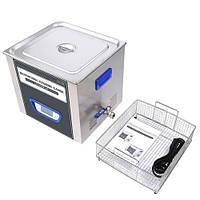 TUC-200 ультразвукова ванна 20л, 120Вт, LCD дисплей, металевий, функиция дегазації, Jeken