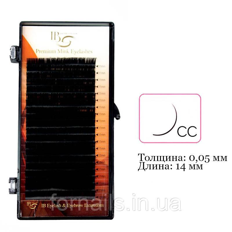 Вії I-Beauty на стрічці CC 0.05 мм, 14 мм