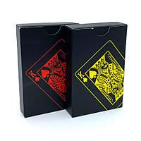 Карты игральные пластиковые Poker Black