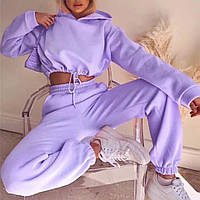 Спортивний жіночий костюм двійка з капюшоном, фото 1