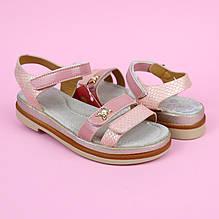 5492E Розовые босоножки для девочки тм Том.м размер 32,34,36,37