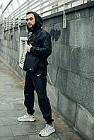 Спортивный костюм мужской черный , Ветровка + Штаны