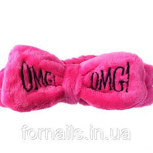 Повязка OMG ярко-розовая