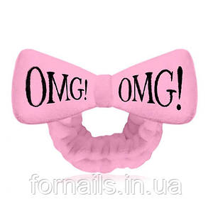 Повязка OMG нежно-розовая
