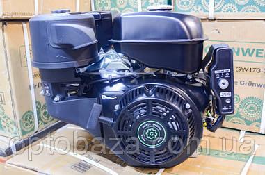Двигатель Grunwelt GE 192 FE-S (вал 25 мм, шпонка) 18,0 л.с. (электростартер) EURO 5