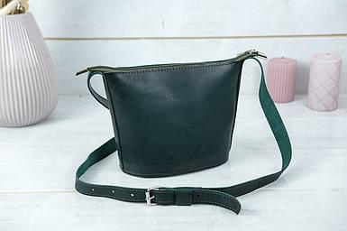 """Сумка жіноча. Шкіряна сумочка """"Елліс"""", Шкіра Італійський краст, колір Зелений"""