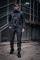 Костюм Мужской Softshell серый демисезонный Intruder осенний весенний . Куртка мужская , штаны утепленные