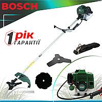 Мотокоса Bosch GTR 52 (5.2 кВт, 2х тактный) Бензокоса Бош. Кусторез, триммер. ГАРАНТИЯ 1 ГОД!
