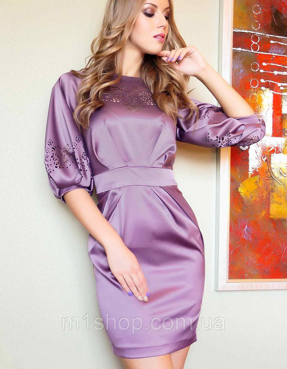 Платье из сатина | Камила lzn