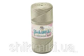 Полипропиленовый шнур PP Macrame Mini, цвет Платина