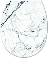 Кришка для унітазу c малюнком Білий мармур (36.5*45*3.5 см), Elif Plastik Туреччина Е-372