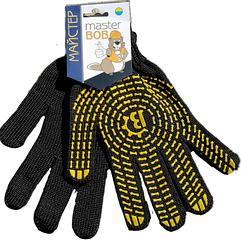 Рукавички Майстер Боб трикотажні 562 чорно-жовті
