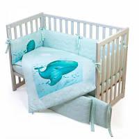 Детский постельный набор Верес Menthol whale (6 ед.) (217.08)
