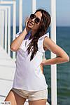 Жіноча блузка софт з коротким рукавом рюшиком, фото 5