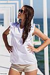 Жіноча блузка софт з коротким рукавом рюшиком, фото 6