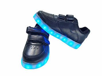 Кроссовки светящиеся детские Black ZT-335
