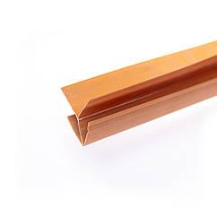 Кутник зовнішній пластиковий для панелі Дуб золотий
