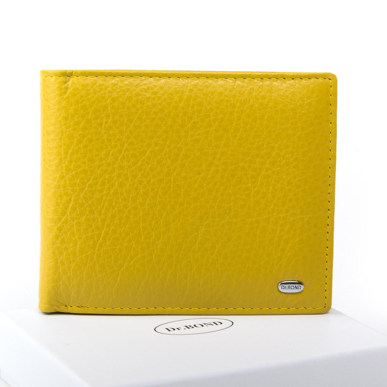Жеснкий кошелек Classic кожа DR. BOND WN-7 желтый