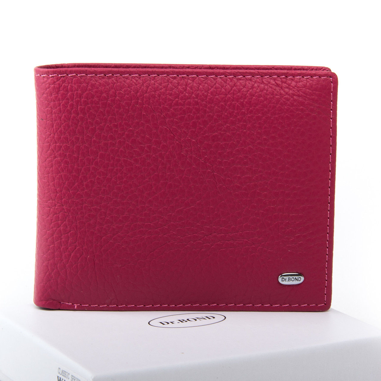 Жеснкий кошелек Classic кожа DR. BOND WN-7 розовый