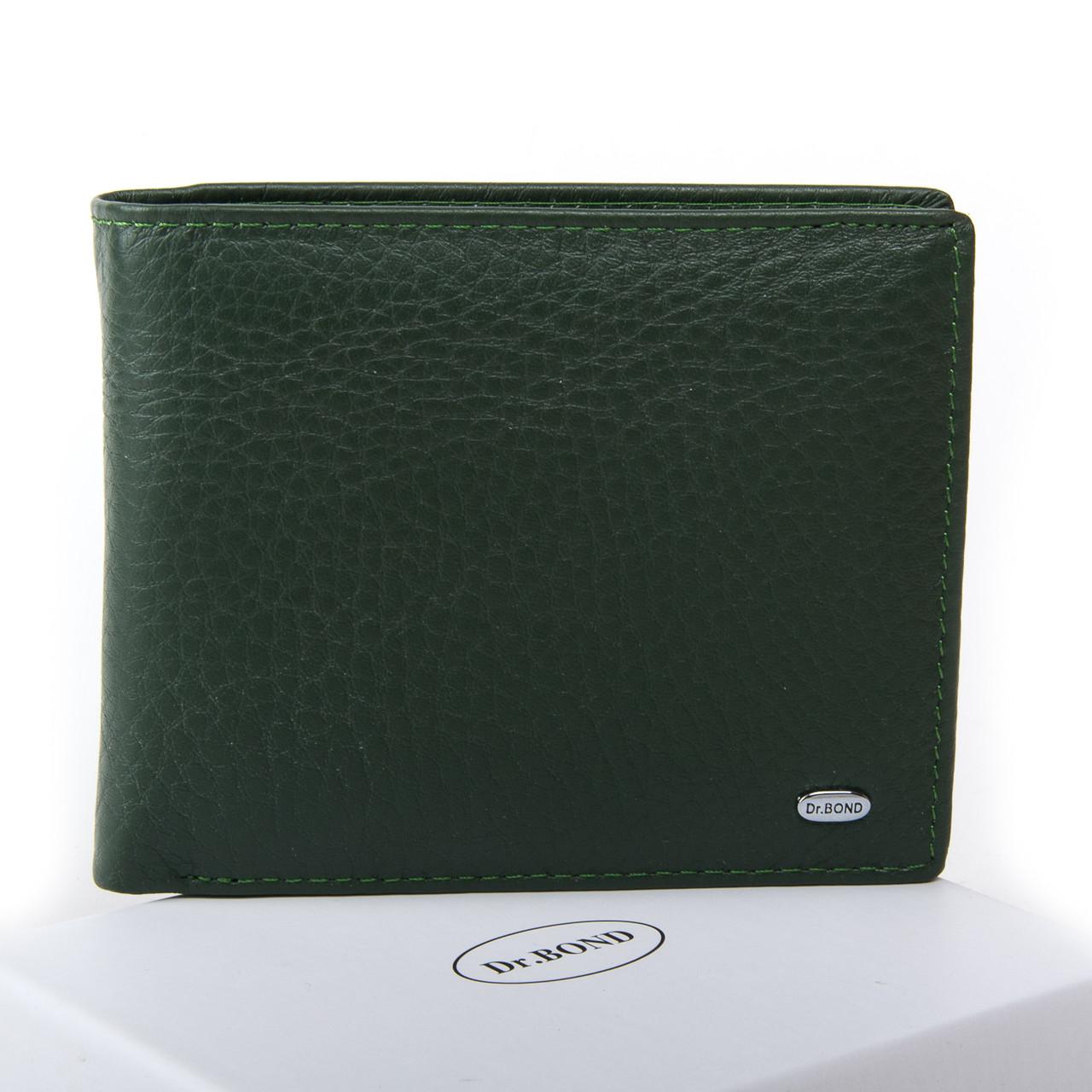 Жеснкий кошелек Classic кожа DR. BOND WN-7 зеленый