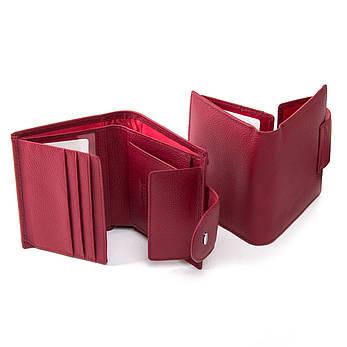 Жеснкий кошелек Classic кожа DR. BOND WN-6 бордовый, фото 2