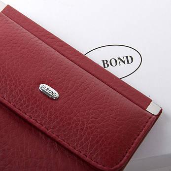 Жеснкий кошелек Classic кожа DR. BOND WN-3 бордовый, фото 2
