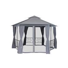 Дачный шатер павильон с москитной сеткой серый 4x4х2.75 м