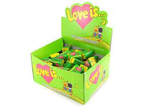 Жевательная жвачка Love is, жвачки лове ис Яблоко и Лимон