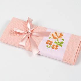 Полотенце кухонное Lotus Life - Персиковый 40*60