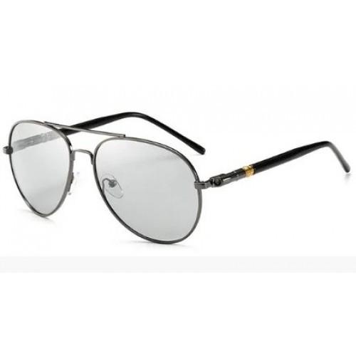 """Фотохромные поляризованные очки """"Капли"""", """"Авиатор"""" YJ-079 Черный"""