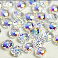 Рондели Swarovski  Crystal AB 2х4mm 1шт