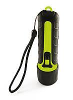Ліхтар для дайвінгу ручний прогумований світлодіодний LED WORLD SPORT Жовтий-чорний (BL-F03)