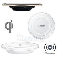 Qi Беспроводное зарядное для телефона Samsung круглое Белый