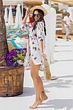 Жіноча красива пляжна туніка - сорочка з принтом, фото 4