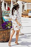 Женская красивая пляжная туника- рубашка с принтом, фото 4