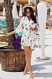 Женская красивая пляжная туника- рубашка с принтом, фото 5