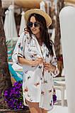 Женская красивая пляжная туника- рубашка с принтом, фото 2
