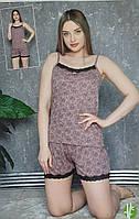 """Піжама жіноча з різним принтом,(3ол.) розміри S-XL """"Home Style"""" недорого від прямого постачальника"""