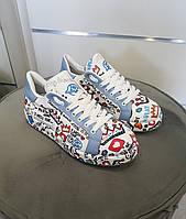 Кросівки Camuzares білі/голубі 39