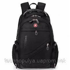 Рюкзак Городской Swissgear Black Swiss Bag Черный (R0003)