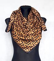 Шелковый платок Энди 90*90 см кофейный