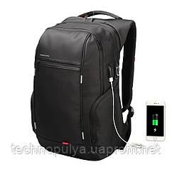 Рюкзак городской Kingsons KS3140W с USB портом Черный (4204-12219)