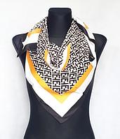 Шелковый платок Энди 90*90 см черно-белый