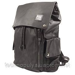 Рюкзак городской KAKA 2209 на кнопках водостойкая ткань Черный (4218-12231)
