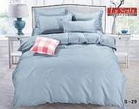 Двоспальне постільна білизна RANFORCE блакитне