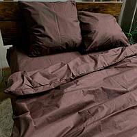 Двоспальне постільна білизна RANFORCE коричневе