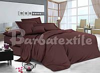 Двоспальне постільна білизна RANFORCE однотонне коричневе