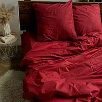 Двоспальне постільна білизна RANFORCE червоне