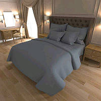 Двоспальне постільна білизна RANFORCE однотонна сіра