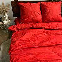 Двоспальне постільна білизна RANFORCE червоне однотонне